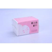 Детская гигиеническая бумага для лица с розовой упаковкой