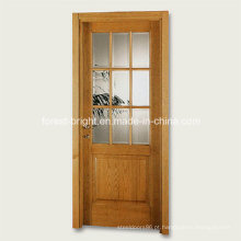 9 Lite Wood Design de porta de vidro único