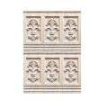 Carved flower wooden onlay and appliques for furniture parts