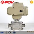 Motorized 3 way sanitary valve clamp ball valve
