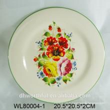 Plaque en céramique avec impression en carton pour fleurs
