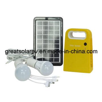 3W / 9V luces solares, kit de iluminación solar, Slar sistema de iluminación del hogar