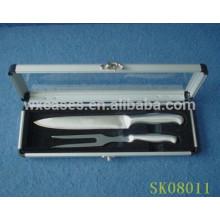 caja de aluminio con una tapa de acrílico transparente de mostrar para herramientas del BBQ