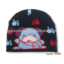 Barato 100% acrílico hecho punto sombreros de gorro