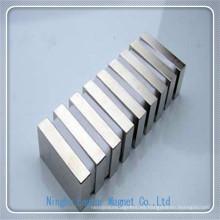 N42sh imán de bloque permanente de neodimio con la galjanoplastia de níquel