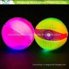 Мигающий звучащий светло-до колючие фугу Массажировать Баскетбол игрушки