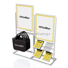 Advertising Freestanding Stationery Supplies Store Display Metal School Bag Golf Bag Hanging Rack