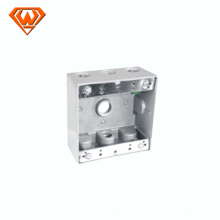 steel double gang weatherproof junction box