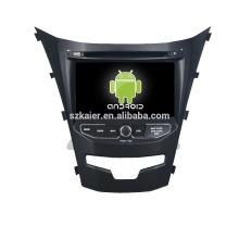 Quad core! Dvd do carro com link espelho / DVR / TPMS / OBD2 para 7 polegadas tela sensível ao toque quad core 4.4 Android sistema Ssangyong Korando 2014
