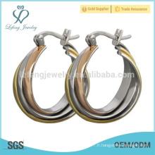 Boucles d'oreille en forme de titane crémaillère pour les filles mignonnes