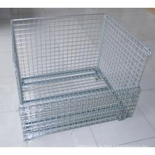 Contenedor de jaula de almacenamiento de malla de alambre