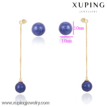 90484- Xuping Moda Hot Sale Ladies Drops Brinco com Funky Gifts Kpop Ball Shaped