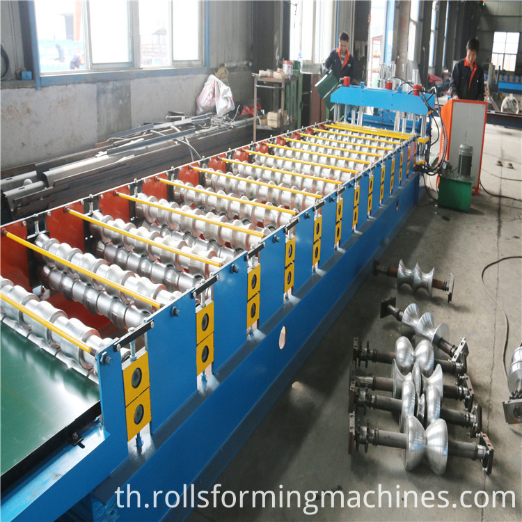 rollers of Russia Glazed Steel Tile Roll Forming Machine