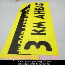 Bannières de vinyle en PVC suspendues en extérieur Impression