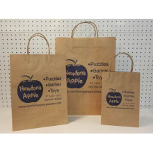 Sac de papier kraft promotionnel - pomme