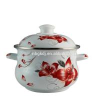 Indian big cooking body pot with ceramics knob
