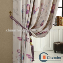 Tejido de seda impreso estilo americano para cortina de proyector