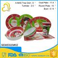 wholesale custom unique design cheap christmas dinnerware