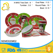 wholesale custom unique design cheap christmas dinnerware