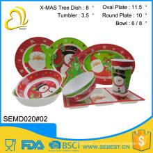 оптовая пользовательские уникальный дизайн дешевые Рождественский посуды
