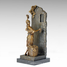 Klassische Figur Statue Traube Maid Bronze Skulptur TPE-1011