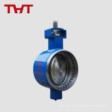 Solicitação do cliente de soldagem sanitária de cores manual tipo borboleta válvula de solenóide de baixa pressão