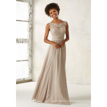 Champagne Embrioder Beading Chiffon Evening Prom Party Bridesmaid Dress