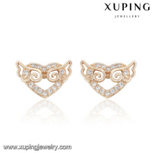 91655 Xuping New designed wholesale gold plated cz stud earring