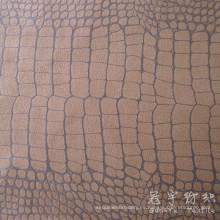 Gamuza con tipo sofá tela patrón del cocodrilo