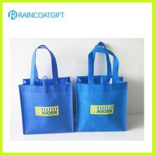 Logotipo personalizado saco não tecido reusável impresso para a promoção