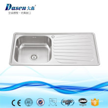 Best Discount Solid Surface Stainless Steel Commercial Bathroom Kitchen Sink With Decals