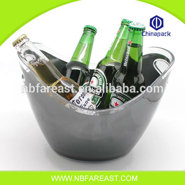 Unique shaple new design ice bucket transparent