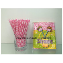 Velas Plásticas Spiral Double Cores Striped Hard Straight Straw