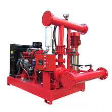 750GPM 8bar fire pump set of diesel engine driven fire pump and electric firefighting pump with jockey pump