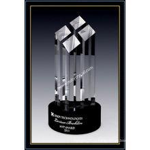 9 дюймов в высоту Кристалл граненый премии башня (ню-CW775)