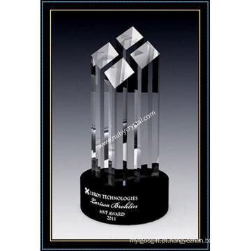 9 polegadas alto cristal facetado Tower Award (NU-CW775)