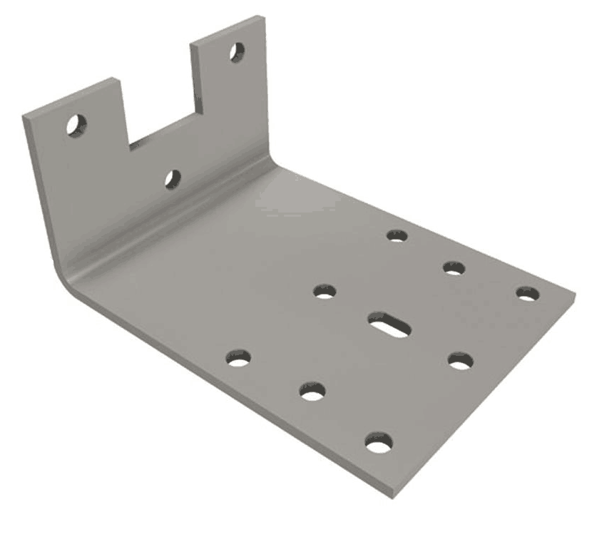 Straight mounting plate