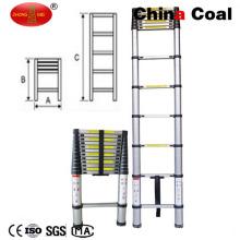 3.8m Extension Height 13 Steps Aluminum Foldable Telescopic Ladder