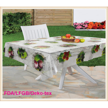 New Designs PVC Printed Transparent Table Cloth China Factory
