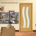 Conception de portes de verre bois contemporain