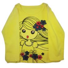 Весна дети девушка Футболка Детская одежда