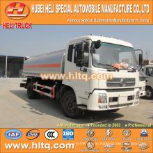 Nuevo DONGFENG 4x2 camión cisterna de combustible 15000L precio barato hecho en China