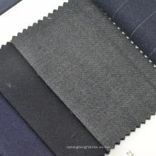 100% lana primavera traje de otoño tela gris marino color azul en stock