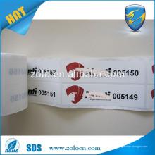 Échantillon gratuit Hot Selling étiquette en caoutchouc adhésif étanche et plastique personnalisée étiquette VOID pour bouteille