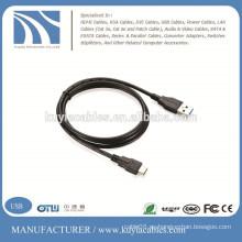 USB 3.0 Standard-A a USB 3.1 Tipo-C 10Gbps Cable de carga rápida de sincronización de datos