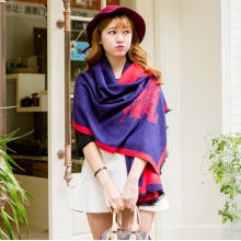 2016 Wholesale hot horse design lady's scarf, wool scarf infinity scarf