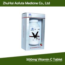 500mg Vitamina C Tablet con GMP para la venta