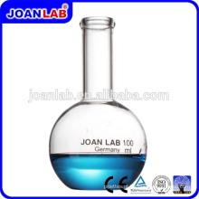 Frasco de fundo plano Flatan de vidro de laboratório JOAN