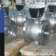 Cast Steel Wcb/Lcb RF Flanged V Port Ball Valve