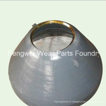 Doublure de bol OEM personnalisée pour le concasseur Metso Gp300